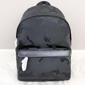 Michael Kors Kent Camo Nylon Jacquard Backpack NWT